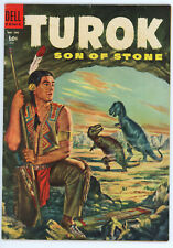 JERRY WEIST ESTATE: FOUR COLOR #596 TUROK SON OF STONE (Dell 1954) VG 1st Turok