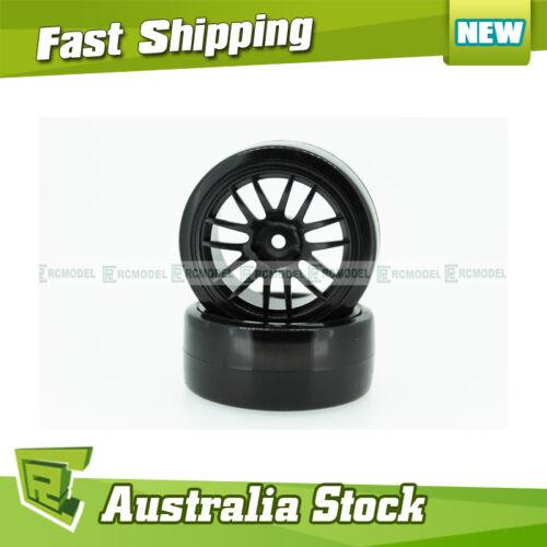 290070 Drift Wheel Complete 2 pcs Green HSP 1//10 On Road Car 07003