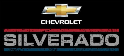 Men/'s Chevrolet Silverado Pullover Hoodie Sweatshirt 2-Sided Logos SIL9P3USA9BLK