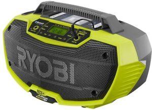 NEW 18V 18-Volt HYBRID Dual Power Bluetooth Stereo Radio P746 Ryobi ONE