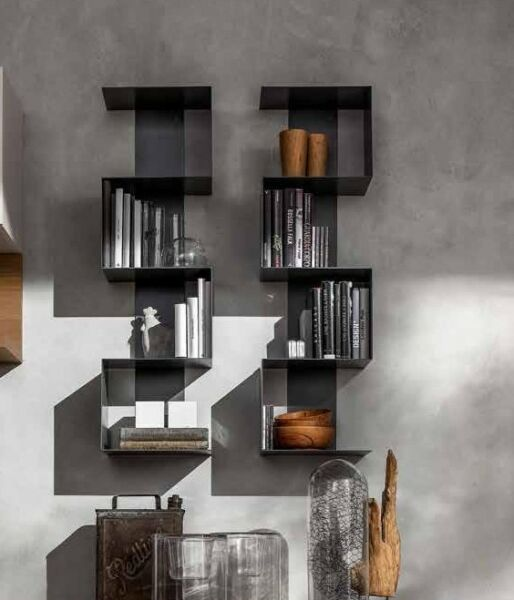 1 Libreria Viper Art Design In Metallo Laccato Nuove Colorazioni Living Forte Resistenza Al Calore E All'Usura Dura