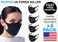 4-Pcs-Black-Face-Mask-Stretch-Thin-Cover-Mouth-Washable-Reusable-Unisex-Sealed thumbnail 1