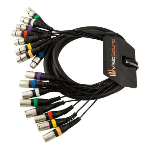 Effects Patch 8-Way 3m Male XLR to Female XLR Balanced Loom Multicore Cable