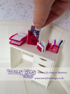 1-12th-Scale-Miniature-Dollhouse-Stationary-Office-Set