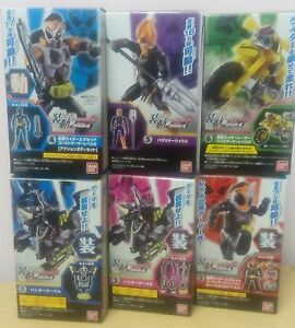 BANDAI SO-DO Kamen Rider EX AID STAGE 4 Figure x6 Ghost gamer Bugster Virus