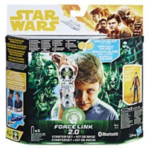 STAR WARS nuova forza LINK 2.0 HAN SOLO CHEWBACCA qi/'ra Starter Set Action Figure