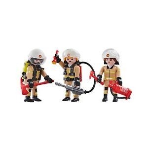 Playmobil-Lot-De-3-Pompiers-6586-Fireman-figurines-ville-city-figure-fire-toy