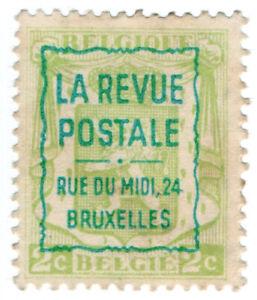 I-B-Belgium-Cinderella-La-Revue-Postale-Overprint