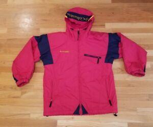 Sportswear Size Large Vintage Jacket Womens Columbia L Sport Red Coat à capuche pwBqYZz