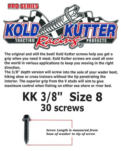 """30 screws size 3//8/"""" 10mm FREE POST UK The Best! Kold Kutter Wader Boot Studs"""