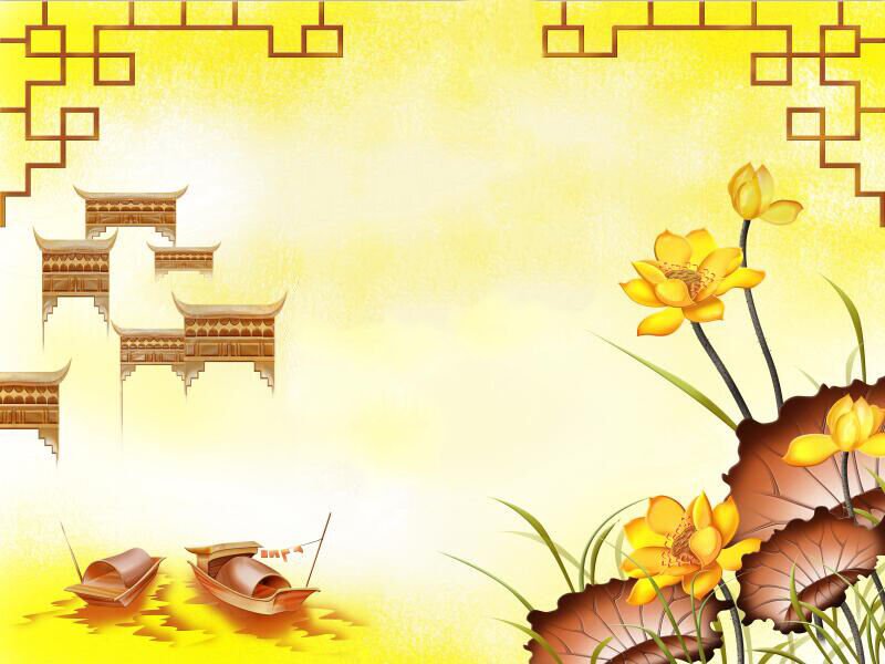 3D Yellow flower boat Wall Paper wallPrint Decal Wall Deco Indoor wall Mural