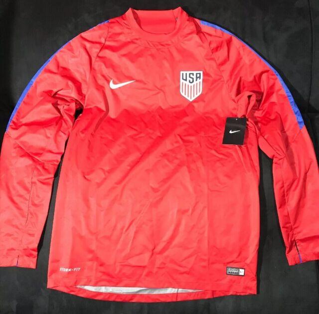 c816b95aea96 Nike Men s Storm-Fit USA Soccer Shield Training Pullover Windbreaker Size  Medium