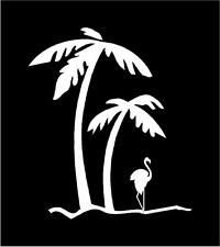 Indiashopers Palm Tree & Flamingo Windows, Sides, Hood, Bumper Car Sticker