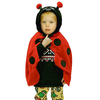 New Totally Ghoul Toddler Lady Bug Cape Halloween Costume