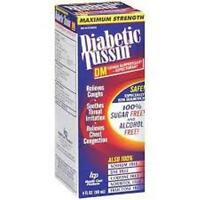 Diabetic Tussin Dm Max Strength Cough Suppressant & Expectorant - 8 Oz.