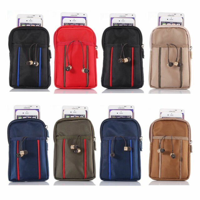 "UK 6.3"" Universal Zipper Belt Bag Carrying Case Pouch Pocket For Various Phones"