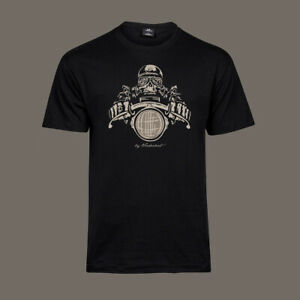 T-Shirt-Death-Racer-Bobber-Chopper-Motorcycle-Biker-Kustom-Ton-Up-ACE-black