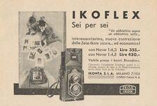 Z1012 Zeiss Ikon IKOFLEX Sei per Sei - Pubblicità d'epoca - 1934 Old advertising