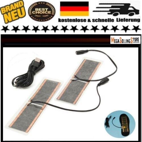 Beheizbare Einlegesohlen Thermosohlen Schuhheizung Schuheinlagen USB elektrisch