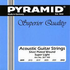 Pyramid Akustik Gitarre Acoustic Guitar Super Light .009-.042 Saiten SATZ