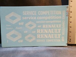DECALS-DIVERS-RENAULT-RENAULT-SERVICE-COMPETITION-BLANCS-T496B