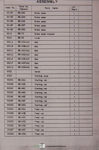 Lathe Assembies Manual Mori Seiki Standard and Type II