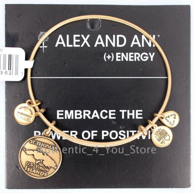 New Alex And Ani St Thomas Us Virgin Islands Exclusive Gold Bangle Bracelet