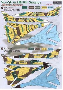 Details about Print Scale Decals 1/72 PERSIAN FENCERS SUKHOI Su-24 IN THE  IRANIAN AIR FORCE