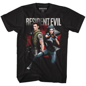 Resident-Evil-CHRIS-and-JILL-T-Shirt-in-Sizes-SM-5XL-WITH-NECK-TAG-In-Black