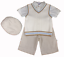 Couche Tot baby boy Spanish style outfit shorts shirt tank top baker cap hat