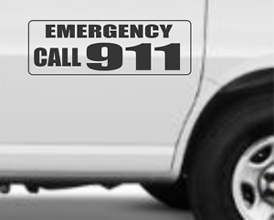 """EMERGENCY CALL 911 Magnetic Signs for Car Truck SUV 6/""""x18/"""""""