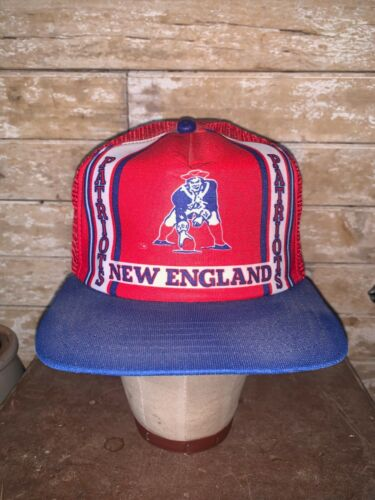 VINTAGE Rare 80s New England Patriots Red NFL Foot