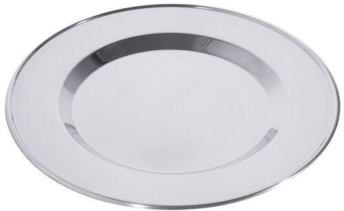 aus versilbertem Stahl Platzteller mit Perlrand 30 cm Ø anlaufgeschützt
