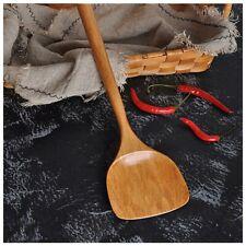 Long Wooden Cooking Rice Spatula Scoop Non-stick Wok Shovel Kitchen Tool @ev