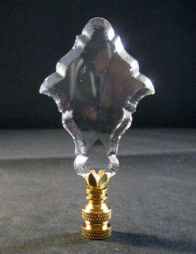 LAMP FINIAL-GLASS FRENCH PENDALOGUE LAMP FINIAL-BRASS BASE