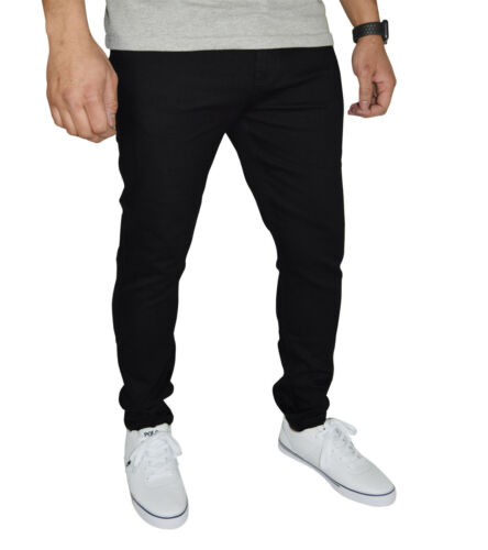 Mens Stretch Skinny Fit Jeans Super Spandex Denim Pants