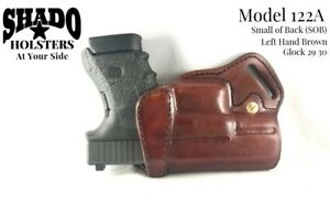 SHADO Leather Holster Model 122A Left Hand Brown fits Glock 29 30 Brand Products