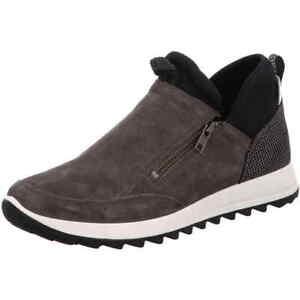 G Stone Boot Sneaker 00948 Grigio 94 Legero Amato pelle Zip Larghezza nabuk in 7FRnxqw