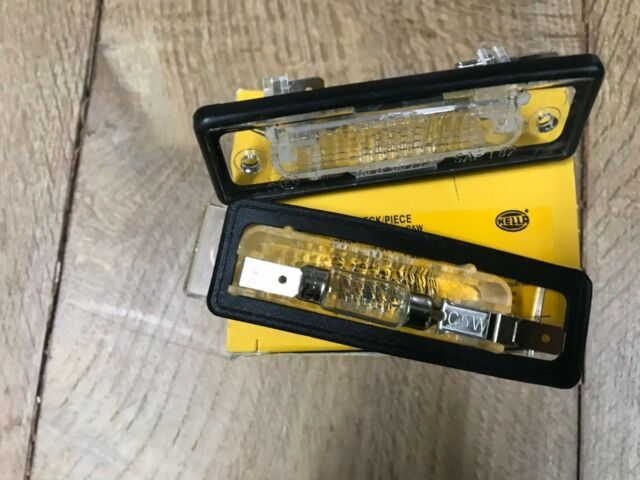 For BMW E12 E23 E24 E28 E30 528e License Plate Lights HELLA 63261354665