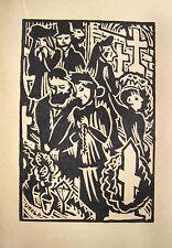 BAYERN MAX UNOLD ALTBAYRISCH ALLERSEELEN HOLZSCHNITT 1920 BAVARIA ALL SOUL´S DAY