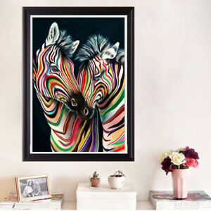 Uk Zebra Full Drill Diy 5d Diamond Painting Embroidery Cross Crafts