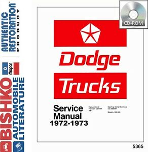 1972-1973-Dodge-Pickup-Truck-Service-Shop-Repair-Manual-CD