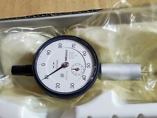 Mitutoyo Needle Point Metric Dial Depth Gage Gauge 0 10mm 001mm 16mm Round Base