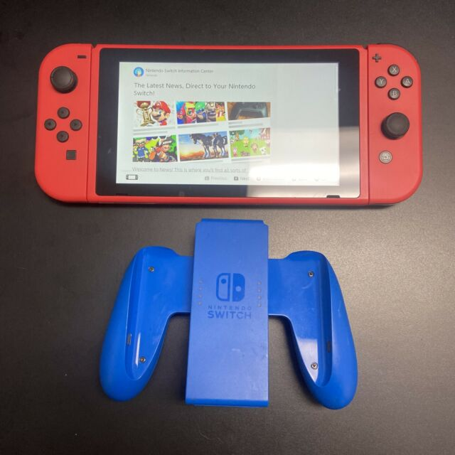 Nintendo Switch Mario Red & Blue Edition 32GB RARE. Console Only W/ Comfort Grip
