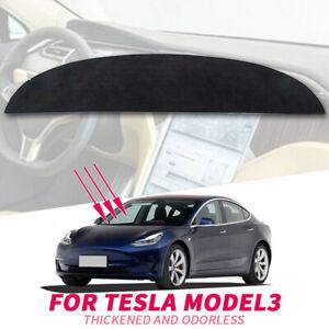 Car-Auto-Dashboard-Dash-Mat-Sun-Cover-Black-Carpet-For-Tesla-Model-3-17-19-Parts
