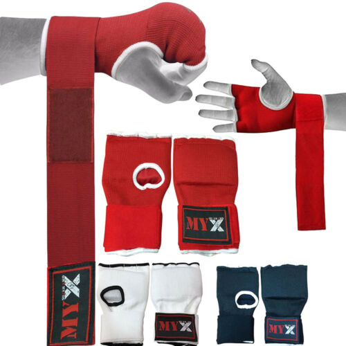 Hand Wrap Inner Padded GEL boxing glove MMA UFC Training gloves  Pro Style