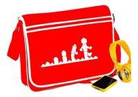 Lego Evolution Messenger Bag Red Fun Retro Funny Gift - T Shirt In Shop