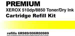 2- Toner Refill Kits (TWO) for Xerox 510dp 8850 6R989 006R00989