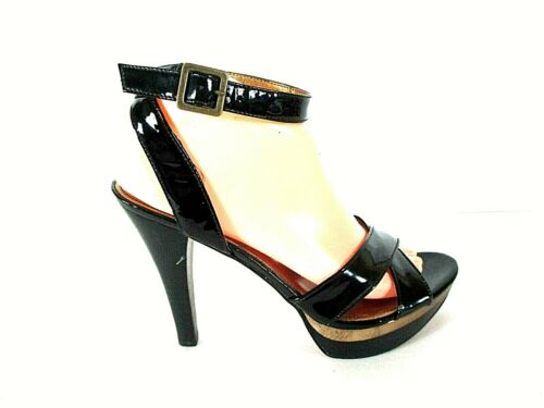 Marc Fisher Black Patent Leather Platform Heels Sh