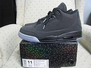 quality design e62a6 4f101 Image is loading NIKE-AIR-JORDAN-RETRO-3-5LAB3-BLACK-Reflective-